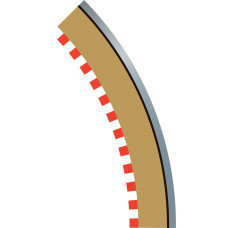 SCALEXTRIC C8228 Borders & Barriers 45' R2 Outer