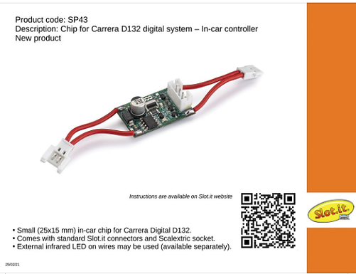 SLOT.IT-SP43 Digital Chip for Carrera 1:32 - for Scalextric Cars