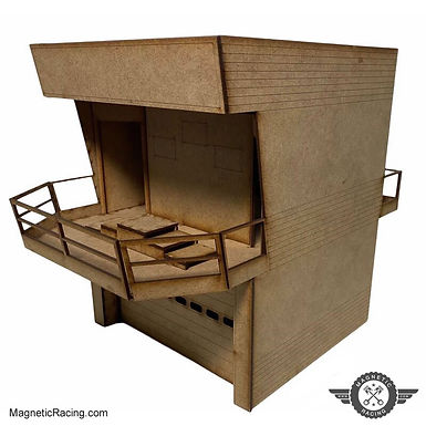 MAGNETIC RACING-022w Modern Pit Building with Podium