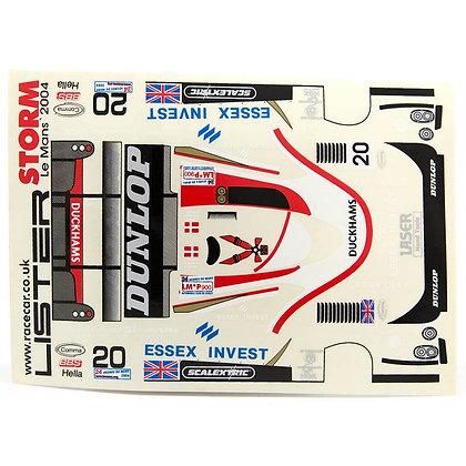 JK 7202ST 1/24 Decal Sheet - Lister Storm Dunlop #20 LMP