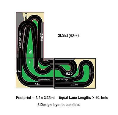 MR TRAX-2LSET(RX-F) Modular Track system - 2 Lanes (3 tables)