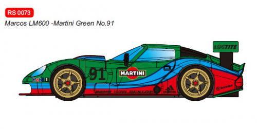 RevoSlot  Future Release  0073 Marcos LM600 GT2 No.91 Martini Green