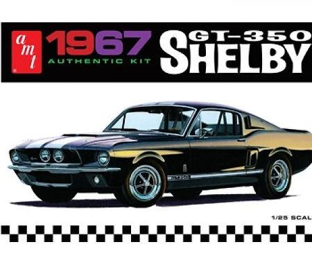 AMT-834 1/25 Shelby GT350 - Black Plastic Kit