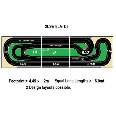MR TRAX-2LSET(LA-D) Modular Track system - 2 Lanes (3 tables)