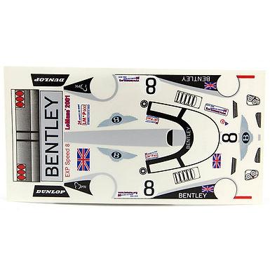 JK-7197ST 1/24 Decal Sheet - Bentley 2001 #8