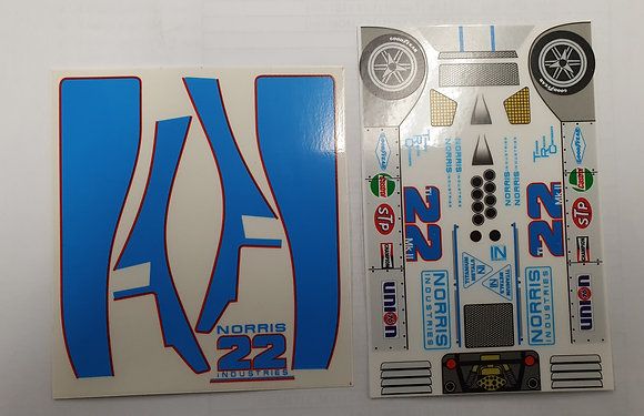 "JK-7081ST Classic Decal Sheet - TI 22 ""Norris"" #22"