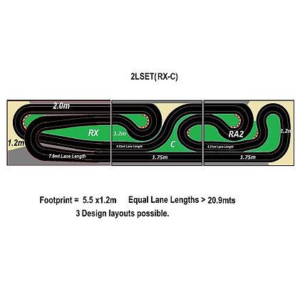 MR TRAX-2LSET(RX-C) Modular Track system - 2 Lanes (3 tables)