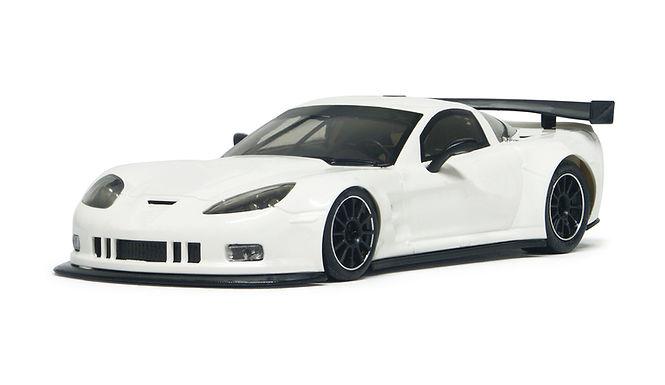 NSR-1071SW Future Release Corvette C6R Body White Kit SW Shark 25K EVO