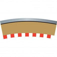 SCALEXTRIC C7019 Single Lane Border Curve
