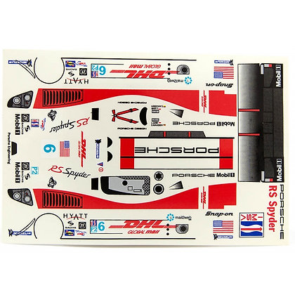 JK 7203ST 1/24 Decal Sheet - Porsche RS Spyder DHL #6 LMP