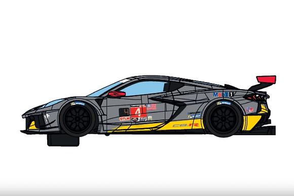 SCALEXTRIC-C4240 Future Release Chevrolet Corvette C8R #4 24hrs Daytona 2020
