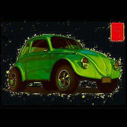 AMT-1044 Volkswagen Beetle Superbug Gasser Model Kit 1/25
