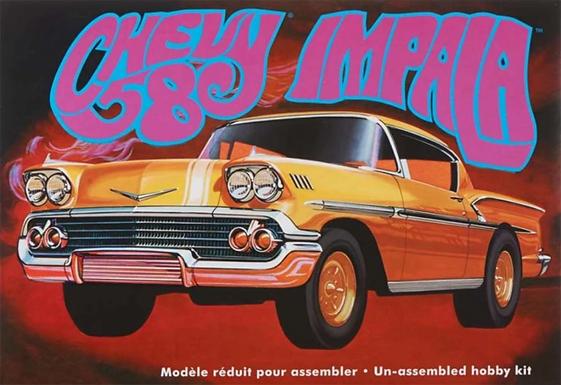 AMT 931 58 Chevy Impala  Model Kit 1/25