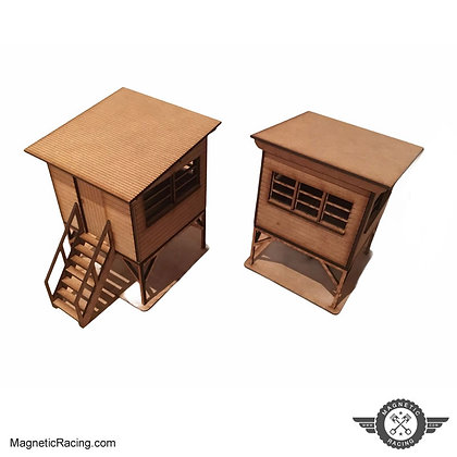 MAGNETIC RACING 004 Marshals Hut x 2 1:32 scale Kit