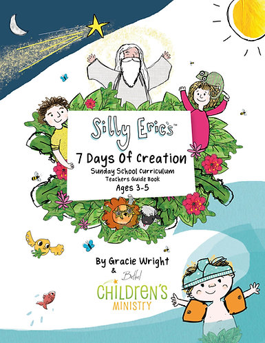Silly Eric's 7 Days Of Creation Sunday School Teacher's Guide, Storybook & M/P