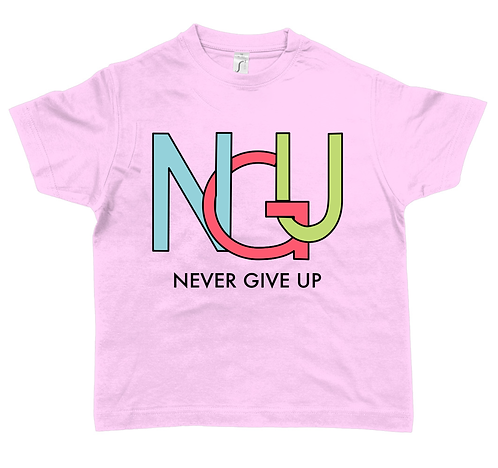 CUSTOMISE YOUR Never Give Up T-Shirt - Children's Unisex
