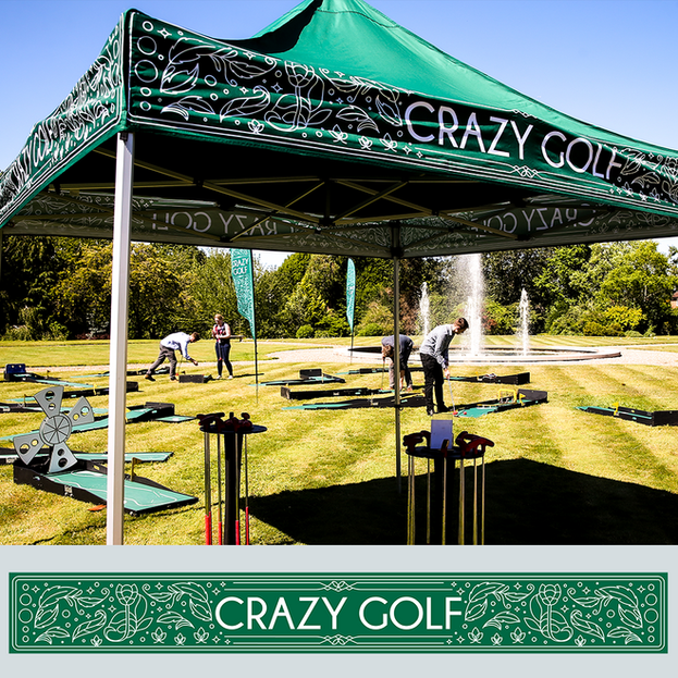 Crazy golf gazebo