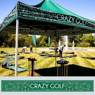 Crazy golf gazebo