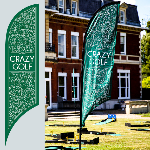 Crazy-golf flags