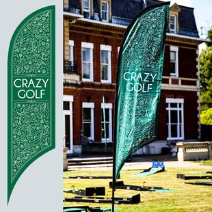 Crazy-golf flags