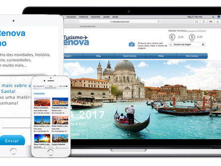 Novo site da Renova Turismo