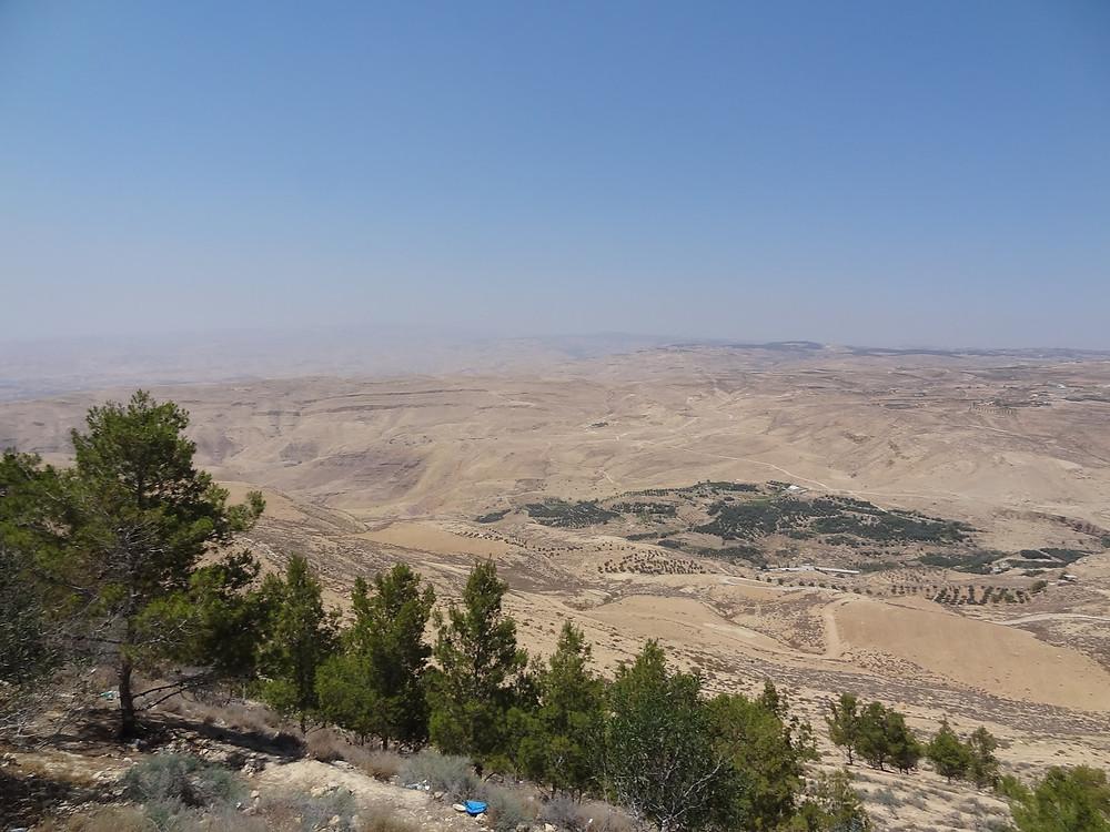 Vista à partir do Monte Nebo, Jordânia.