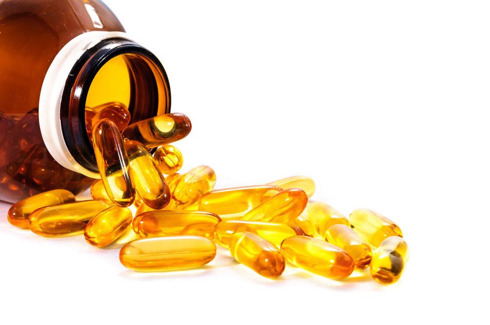 Vitamina D em cápsulas