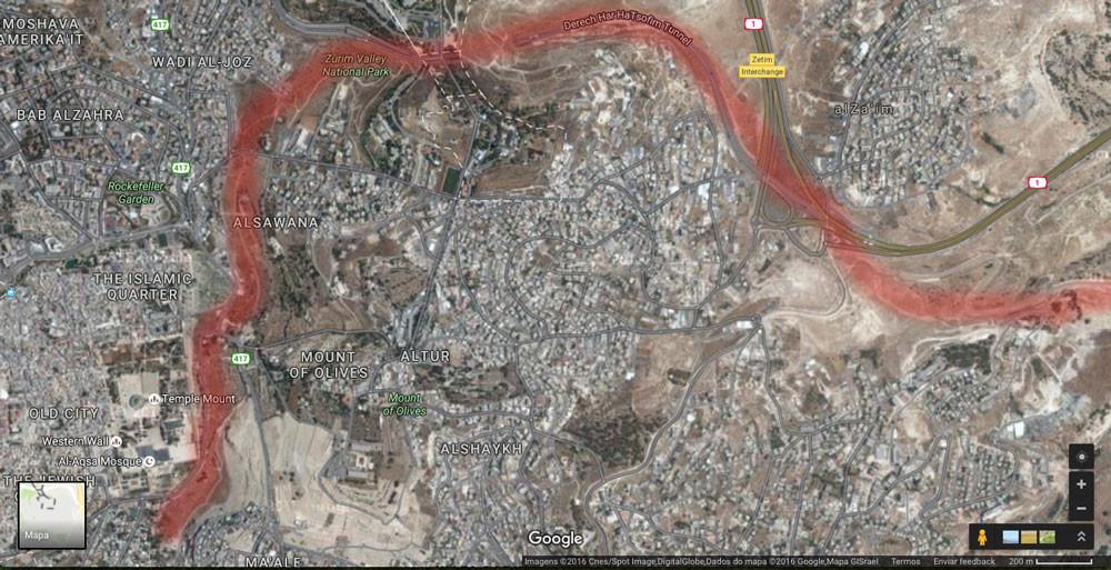 Vale do Kidron Google Maps