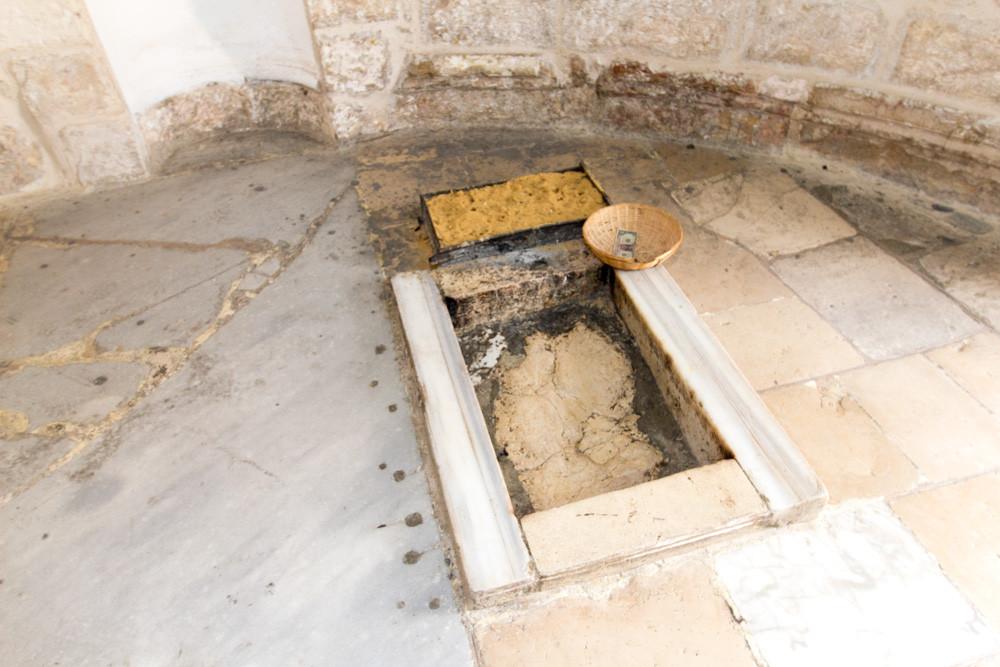 Rocha da Ascensão na Capela da Ascensão