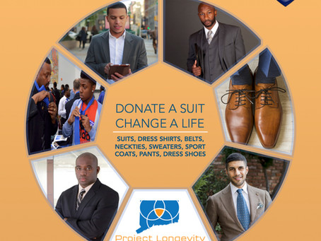 PROJECT LONGEVITY HARTFORD BUSINESS ATTIRE CLOTHING DRIVE