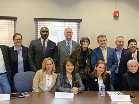 Statewide Dir. Brent Peterkin joins Congresswoman Rosa DeLauro for gun violence research roundtable.