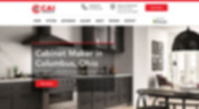 Cai Cabinetry Webste by Makeshark