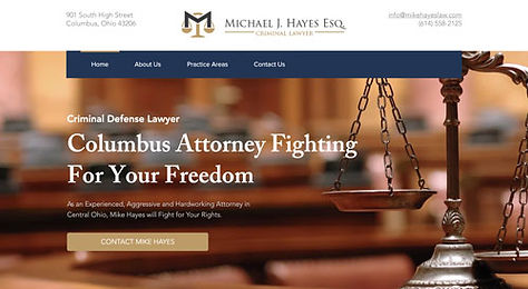 Mike Hays Law Webste by Makeshark