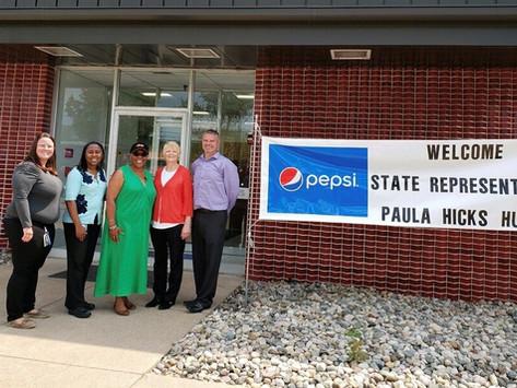 Rep. Paula Hicks-Hudson PepsiCo Beverages North America Toledo Tour