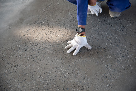 a construction worker check quality epox