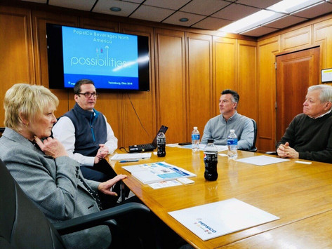 Greater Akron Chamber, Twinsburg Mayor Ted Yates and Summit County PepsiCo Beverages N America Tour
