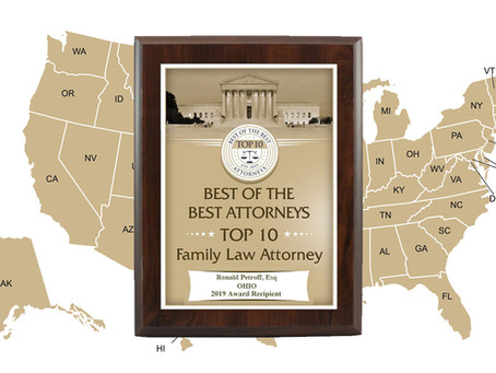 Ronald Petroff Awarded Top 10 Family Law Attorney in Ohio