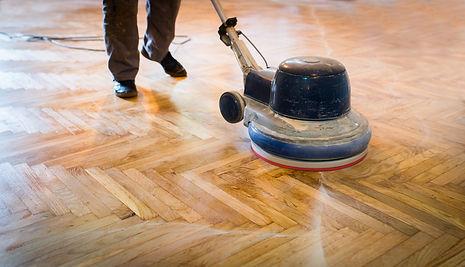 Home renovation, parquet sanding, polish