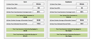 Crop Insurance Calculator
