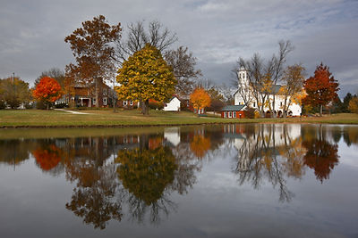 Fall in Heritage Park in Westerville, Oh