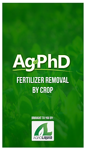 Fertilizer Removal by Crop app