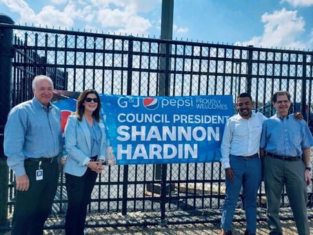 Columbus City Council President Shannon Hardin G&J Pepsi Columbus Tour