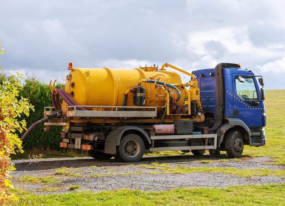 Sewage Tank truck. Sewer pumping machine