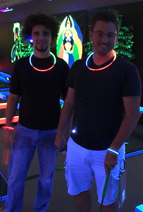 Glow Putt Mini Golf Players