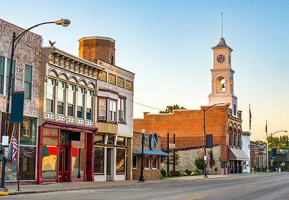 Traditional main street of quaint USA sm