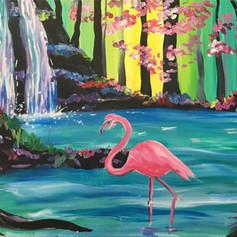 Waterfall Flamingo