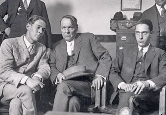 Richard Loeb, Clarence Darrow, and Nathan Leopold