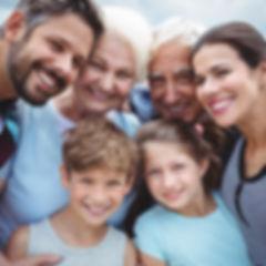 Portrait of happy multi-generation famil