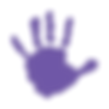 Big Hearts Little Hands Testimonia Handprint Purple
