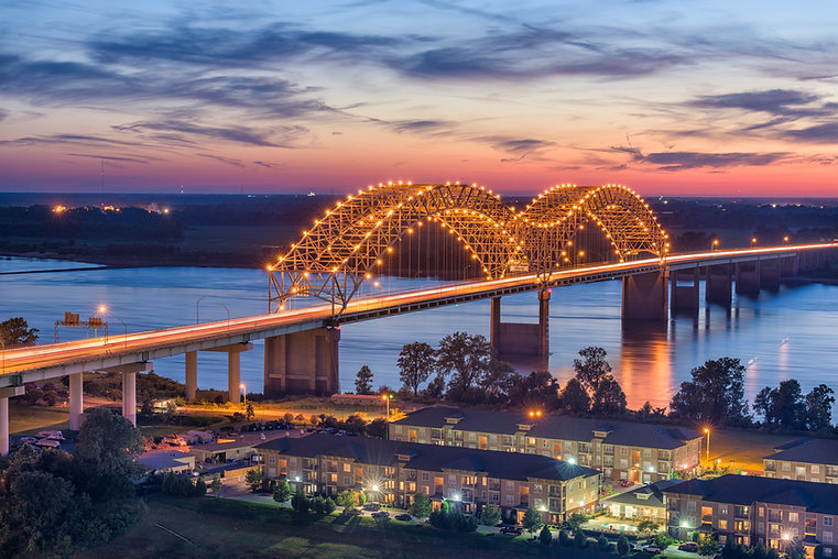 Memphis, Tennessee, USA at Hernando de S